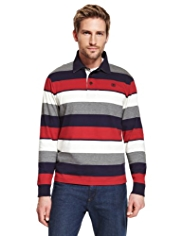 Blue Harbour Pure Cotton Multi-Striped Rugby Shirt