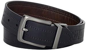 Levi's Men's Levis 40MM Reversible Belt With Gunmetal Buckle, Brown/Black, 36