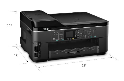 Epson WorkForce WF-7510 Wireless All-in-One Wide-Format Color Inkjet Printer, Copier, Scanner, Fax (C11CA96201)