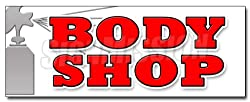"36"" BODY SHOP DECAL sticker car auto body shop"