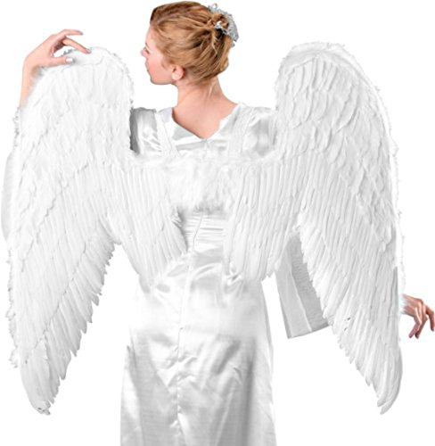 Costume Adventure Adult Deluxe White Feather Angel Wings - 37 x 40 Inches