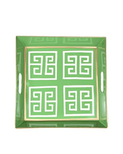 Jayes Greek Key Square Tray, Green