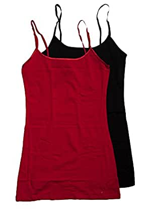 2 Pack Active Basic Women's Basic Tank Top Small Black, Red
