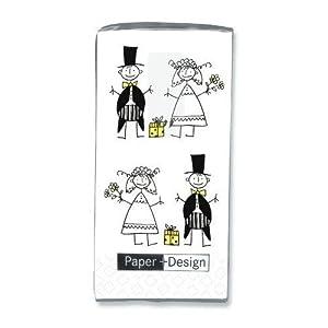 10 Taschentücher Just Married - Hochzeit
