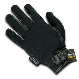 Rapdom Tactical Neoprene Waterproof Gloves, Black, X-Large