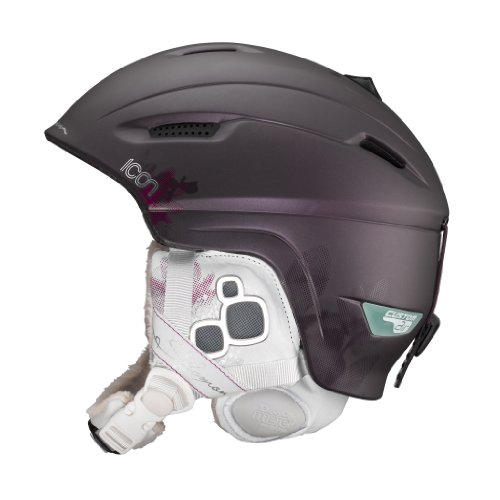 SALOMON Damen Skihelm Icon Custom Air, prunematt, 54-55, 12712455