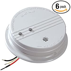 kidde hardwire smoke alarm with hush feature and battery backup contractor pack 6 pack smoke. Black Bedroom Furniture Sets. Home Design Ideas