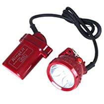 Ringlit® Red Portable 5W 6000mAh Led Headlight Lamp Explosion/Water Proof KL6LM-5 Mining Light for Mining/Hunting/Camping/Hiking/Cycling(Outdoor Living)-Lighting Time up to 30hs