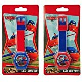 Disney Cars Digital LCD Wrist Watch Boys Stocking Stuffer - 2 Piece