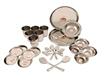 Kitchen Utilities 34 Pcs Stainless Steel Dinner Set