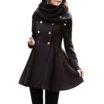 hee grand damen frauen zweireihige jacke rundkragen mantel. Black Bedroom Furniture Sets. Home Design Ideas