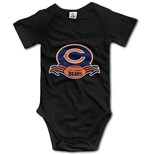 [Chicago Super Bears POY-SAIN Newborn Baby Romper Suit Climb Clothes Size24 Months Black] (Chicago Bears Staley Costume)