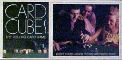 Vintage Card Cubes the Rolling Card Game By Selchow & Righter 1970 Copyright - 1