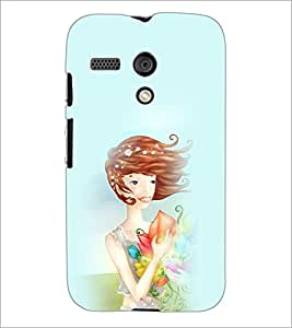 PrintDhaba SweetGirl D-4964 Back Case Cover for MOTOROLA MOTO G (Multi-Coloured)
