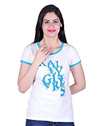 Kally Women's Cotton Printed Regular Fit Top (TP7402, Off-White, XX-Large)