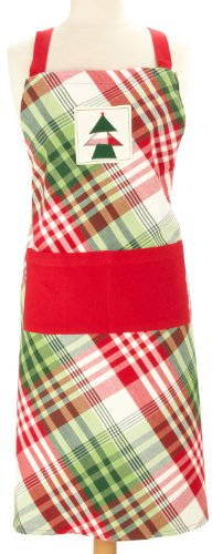 DII Cozy Christmas Plaid Apron