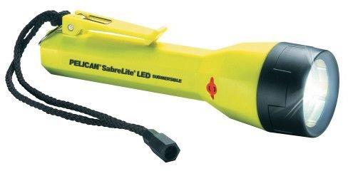 Pelican 180223 Submersible Laser Spot Xenon Flashlight Pelican Sabrelite Led, Yellow