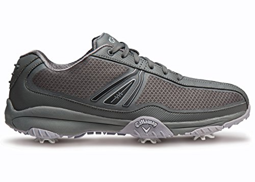 Callaway Footwear Men's Chev Aero II Golf Shoe, Grey/Grey, 11 M US