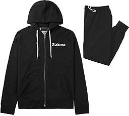AL Alabama State Old English Track Sweat Suit Hoodie Sweatpants Large Black