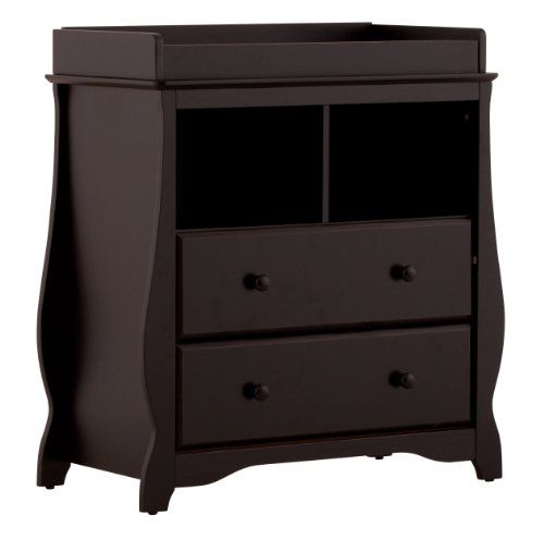 Stork Craft 03580-10B Carrara 2 Drawer Change Table (Black)