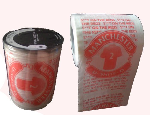 Hate Manchester United Football Toilet Roll Novelty
