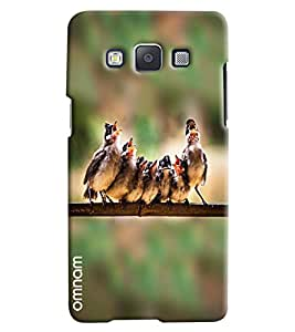 Omnam Sparrow Singing Desinger Back Cover Case For Samsung Galaxy A3