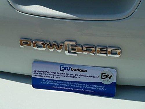 EV Badges Plug in Powered Badge Emblem for Volt, Leaf, Tesla (Chevy Volt Model compare prices)