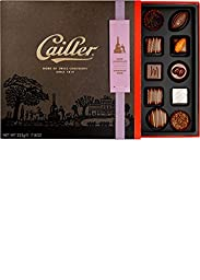 CAILLER Dark Chocolate Selection, Large Box Assortment, 7.9 Ounce, (25 Pieces)