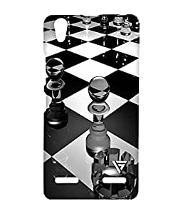 Vogueshell Chess Pattern Printed Symmetry PRO Series Hard Back Case for Lenovo A6000