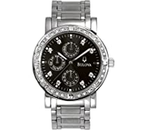 Men's watches special offers - Bulova Men's Diamond Multifunction Watch #96E04 :  mens watch bulova
