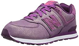 New Balance KL574P Mineral Glow Classic Running Shoe (Little Kid), Purple, 11.5 M US Little Kid