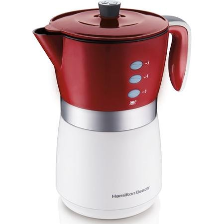 Hamilton Beach 5-Cup Personal Brewer Coffee Maker, 43700, Silver/Red/White (Hamilton White Coffee Maker compare prices)