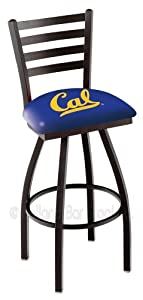 Cal Golden Bears Swivel Bar Stool with Ladder Back by Covers HBS