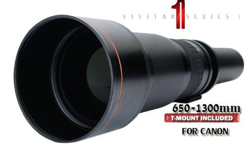 Vivitar Series 1 650-1300Mm Telephoto Zoom Lens For Canon T4I T3I T3 T2I 60Da 7D Xsi Xti. T Mount Included For Canon Eos Slr.