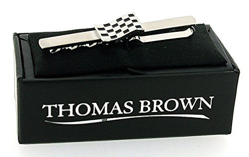 boutons de manchette motos et pince cravate drapeau avec damier et bo te cadeau par thomas. Black Bedroom Furniture Sets. Home Design Ideas