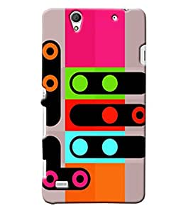 Blue Throat Colourful Singnals Printed Designer Back Cover/Case For Sony Xperia C4