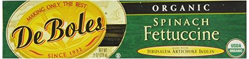 DeBoles Organic Spinach Fettuccini Pasta, 8 Ounce (Pack of 12) (Jerusalem Artichoke Pasta compare prices)