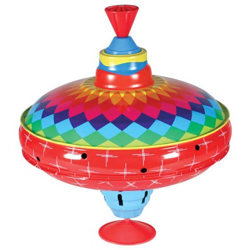 Toy Spinning Top : Bright eyes old school spinning top