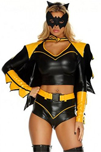 Dear-lover Women's 6 Pcs Action Packed Super Hero Costume