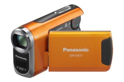 Panasonic SDR-SW21 Flash Memory Underwater & Sports Camcorder With SD Card Slot - Orange