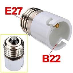 (5191-u) E27 TO B22 FITTING LIGHT LAMP BULB ADAPTER CONVERTER (USA)