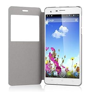 CUBOT S222 3G Smartphone 5,5 Pouces HD IPS Ecran Android 4.2 Quad Core 1.3GHz téléphone portable Dual SIM 1Go RAM 16Go ROM 13.0MP Appareil photo WIFI GPS Bluetooth Blanc-pour orange, SFR, Bouygues, Virgin, Free ISYS, Lebara, Numericable etc.