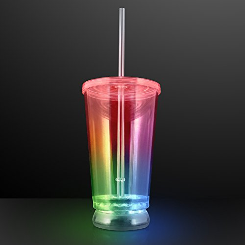 Multicolor Led Light Up To-Go Cup Tumbler