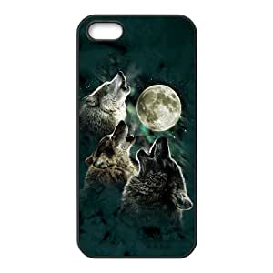 Amazon.com: iPhone 5 5S Case,Cool Howling Wolf And Moon & Beautiful