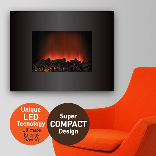Crystal LED-72L The only with LED Technology for Best Performance and Energy Saving, High Power2000/1000W, wall mounted Fireplace with Remote Control SPECIAL OFFER