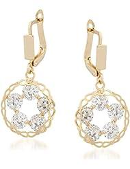 VK Jewels Open Circle Gold Plated Alloy Drop Earring Set For Women & Girls -ERZ1346G [VKERZ1346G]