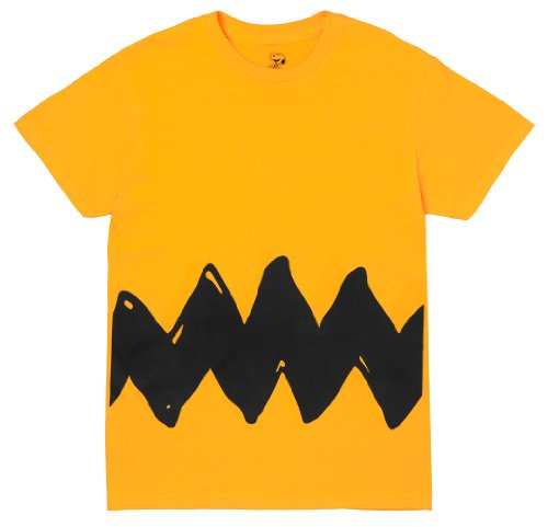 Peanuts Charlie Brown Double Sided Zig Zag Costume Shirt (Small)