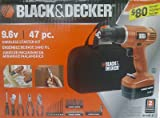 Black & Decker GC96B-47 47-Piece Project Kit with 9.6V Drill, Hand Tools and Accessories