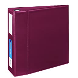 Avery Heavy-Duty Binder with 4-Inch One Touch EZD Ring, Maroon, 1 Binder (21005)