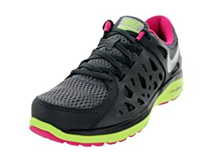 The Womens Nike Dual Fusion Run 2 Running Shoe Dark Grey/Anthracite/Volt Ice/Metallic Silver Size 8.5